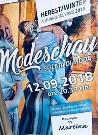 Modeschau/Sfilata di Moda@Pizzeria. Mühlbacher Klause