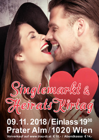 Einzigartige Single Party am 9.11.18 – Singlemarkt & Heiratskirtag