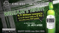 WILLIAM's NIGHT@Discothek Concorde