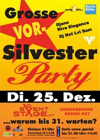 Die Grosse Vorsilvesterparty@Eventstage Krems