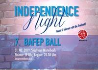 BAfEP-Ball: Independence Night - Nach 5 Jahren ruft die Freiheit@Stadtsaal