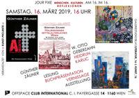 Gegenwart, Vergangenheit in Krimis, düstere Zukunft in unbequemen und rätselhaften Bildern!@Cafe Club International C.I.
