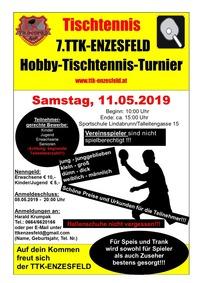 7. ASKÖ TTK-Enzesfeld Hobby-Tischtennis-Turnier 2019