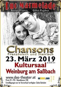 Chansons auf Französisch und Steirisch@Kultursaal Weinburg am Saßbach
