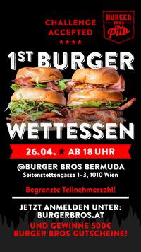 1st Burger Bros - Burger Wettessen@Burger Bros Bermuda