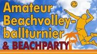 Beachvolleyballturnier und Beachparty