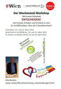 Mit innerer Sicherheit ENTSCHEIDEN! - der Wochenend-Workshop in WIEN@Seminarraum Franz Josef Weihs