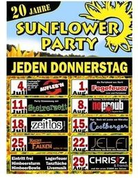Sunflowerparty mit Steirerzeit