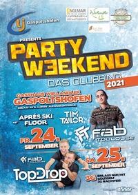 Party Weekend 2021 - Das Clubbing@Gh. Wirlandler