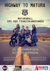 "Maturaball des ORG Vöcklabruck: ""Route 66 - Highway to Matura"