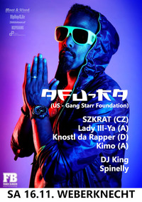 Afu-Ra (US) • Szkrat • Lady Ill-Ya • DJ King • Spinelly & more@Weberknecht