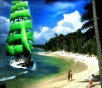 Wir kapern das Becks Schiff und segeln zur Bacardi Insel