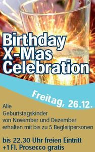 Birthday X-Mas Celebration@Evers