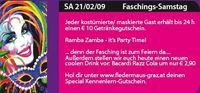 Faschings-Samstag@Fledermaus Graz