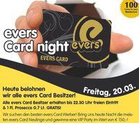 Evers Card Night@Evers
