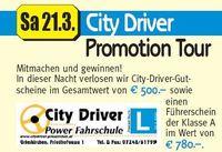 City Driver Promotion Tour