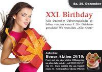 XXL Birthday + Aktion 20/10