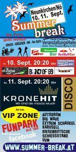Summer Break 10 in Neunkirchen mit live Bands und Kronehit Disco@Neue Veranstaltungshalle ehem Kino Center Neunkirchen