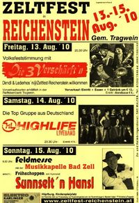 Zeltfest Reichenstein@Reichenstein