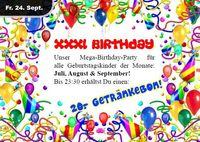 XXXL Birthday – Juli, August, September