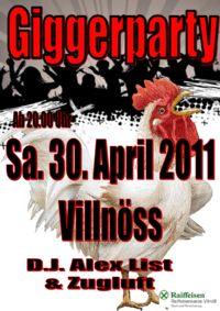 GIGGER Party@Kulturhaus Villnöss