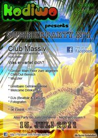 KODIWO - Summerparty N°1@Club Massiv