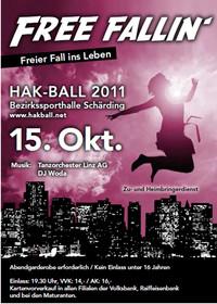HAK-Ball Schärding 2011; Free fallin`- Freier Fall ins Leben